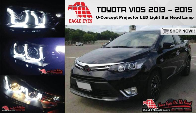 TOYOTA VIOS 2013 - 2016 EAGLE EYES U-Concept Projector Head Lamp HL-164